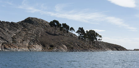 Isla del Sol, on the Titicaca lake, the largest highaltitude lake in the world 3808 mt - Bolivia