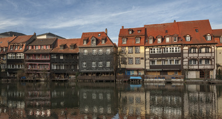The former fishermen's district in Bamberg's Island City is known as Little Venice (Kleinvenedig) Bamberg, Bavaria - Germany