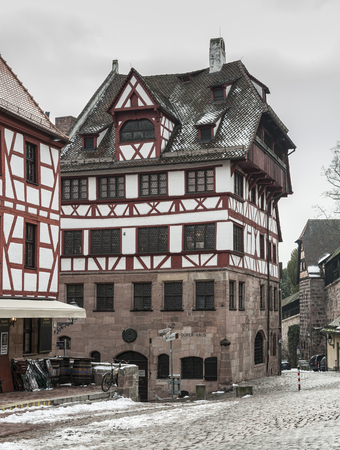 NUREMBERG, GERMANY - MARCH 04, 2018: Albrecht Durers House. A famous building in the city - Nuremberg - Germany
