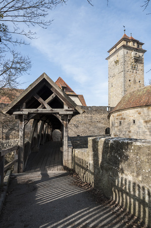 ROTHENBURG OB DER TAUBER, GERMANY - MARCH 05, 2018: Rothenburg ob der Tauber an historic and medieval town and one of the most beautiful villages in Europe, Germany, Publikacyjne