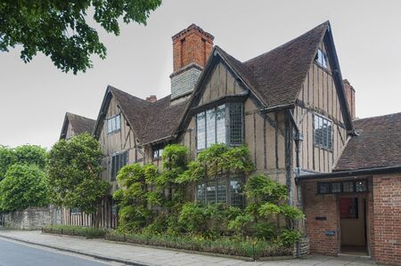 STRATFORD-UPON-AVON, WARWICKSHIRE, UK - MAY 27, 2018: Hall's Croft is a historic building dating back to 1613. The building was the residence of Susanna Shakespeare-Hall and her husband John Hall