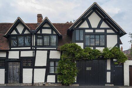 STRATFORD-UPON-AVON, WARWICKSHIRE, ENGLAND - MAY 27, 2018: 16th century Old Town Croft timbered house grade II listed building in Stratford-upon-Avon, Warwickshire, England, UK, Britain