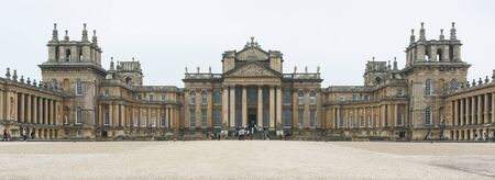 BLENHEIM PALACE, WOODSTOCK, UK - MAY 28, 2018: The Great Court at Blenheim Palace, the birthplace of Winston Churchill and residence of the dukes of Marlborough, is a UNESCO World Heritage Site - UK