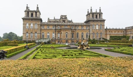 BLENHEIM PALACE, WOODSTOCK, UK - MAY 28, 2018: Blenheim Palace, the birthplace of Winston Churchill and residence of the dukes of Marlborough, is a UNESCO World Heritage Site, situated in Woodstock UK Publikacyjne