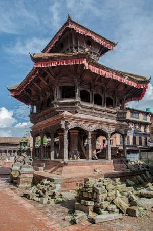 Nepalese newari architecture at Durbar Square of Bhaktapur - Nepal