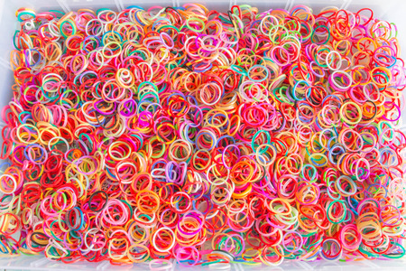 rubber bands: colorful rubber bands