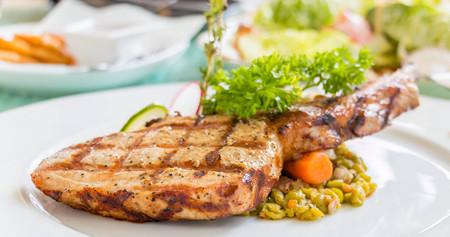 chop: pork chop Stock Photo