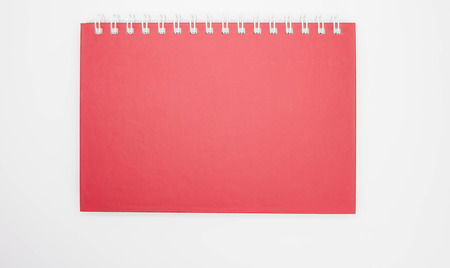 notebook cover: red notebook cover Stock Photo