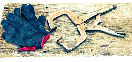 old tools: old tools on wood