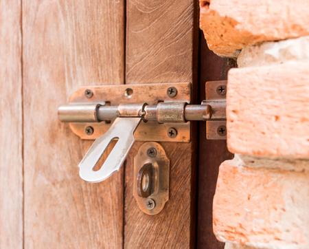 unlocked: metal unlocked old door Stock Photo