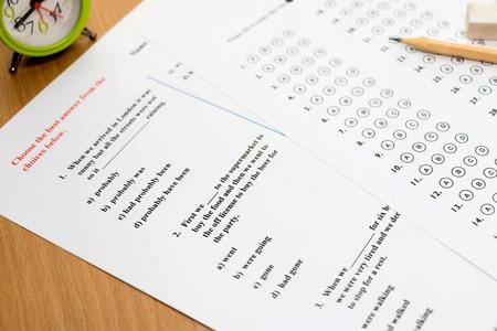 english exam sheet