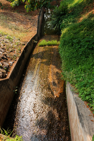 concrete waterway in rural