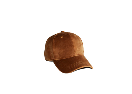isolated new brown cap on white background