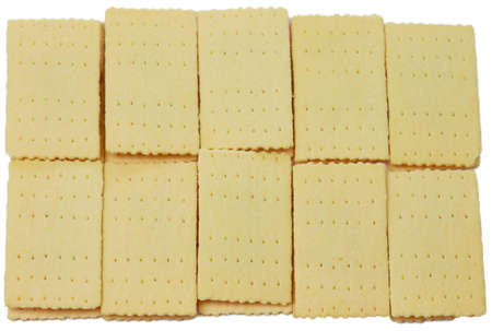 Thai traditional pineapple stuffed crackers on white background