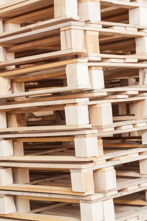 Pile of beech pallets photo