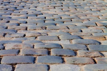 cobblestone street: Old paving