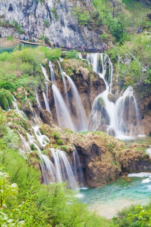 Waterfalls in Plitvice Lakes National Park, Croatia, view from above Stock Photo - 18240241