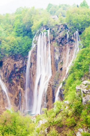 Waterfalls in Plitvice Lakes National Park, Croatia Stock Photo - 18240242