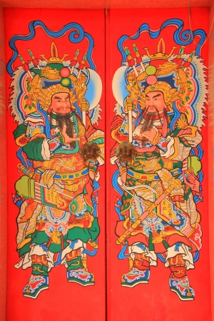 china temple door paint photo