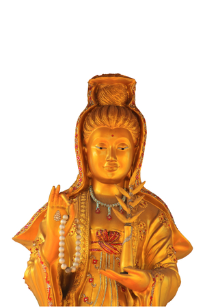 guan yin with isolate background photo