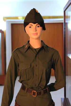 militia:  militia soldier uniform Stock Photo