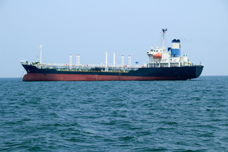 Tanker ship in the ocean at the gulf of Thailand