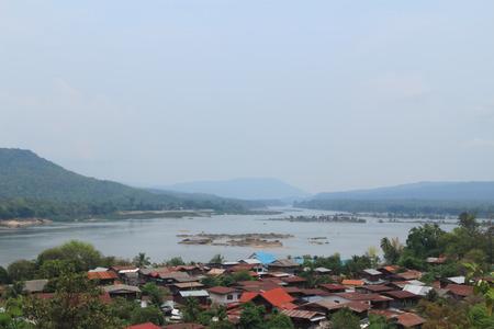 khong river: A view of the Mekong River at Wat Tham Khuha Sawan,Khong Chiam , Ubon Ratchathani