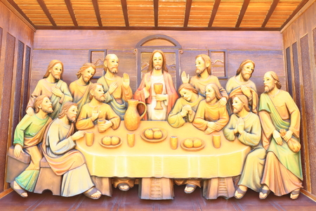 last supper: The Last Supper at saint joseph catholic church Editorial