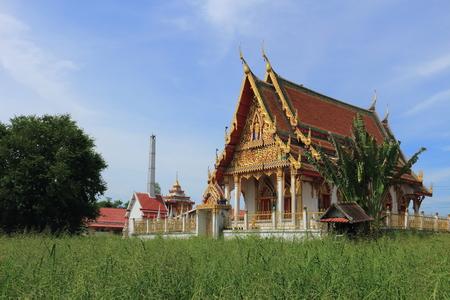 temple at Wat Khumkaeo, Uthai, Ayutthaya photo