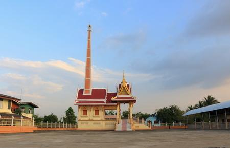 bang pa in: crematory at Wat Sukhan Tharam, Bang Pa In, Ayutthaya Stock Photo