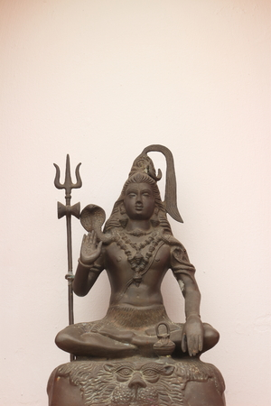 nataraja: Sculpture on bronze of Shiva Nataraja or Mahesh Stock Photo