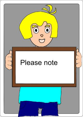 man show the reminder note Vector