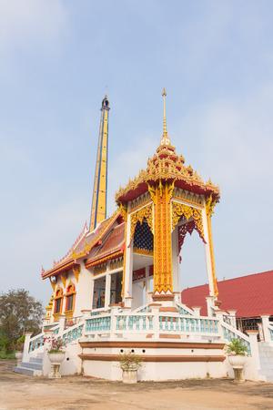 crematorium: Crematory with sky background at Wat Phueng Daet Stock Photo