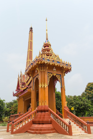 crematorium: Crematory with sky background at Wat Mai Pak Bang