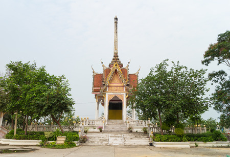crematorium: Crematory with sky background at Wat Wat Pharat Tanaram