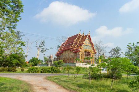 landscape for temple under construction at Wat paithong photo