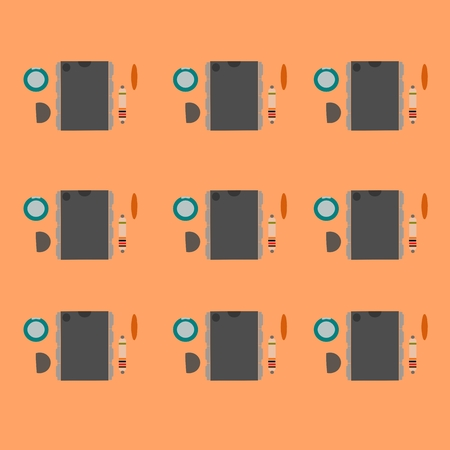 ic: Electronic component on circuit board