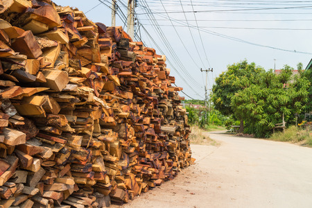pyre: The wood at the roadside waiting for a brick factory