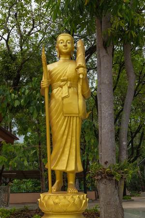 shin: monk statue for Shin Thiwali or Sivali under sun light
