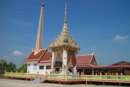 crematorium: Crematory with sky background at Wat Bang yhetho