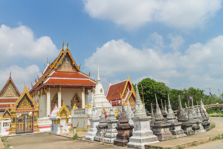 place of worship: place of worship with sky background at Wat Khun Thip Stock Photo