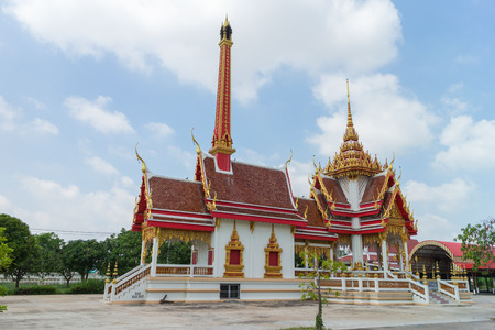 crematorium: Crematory with sky background at Wat Khun Thip