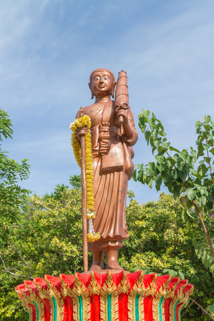 shin: monk statue for Shin Thiwali or Sivali under sun light