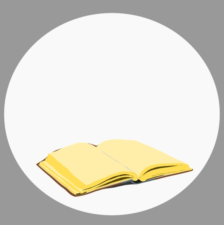 the old open blank book for your design Vector