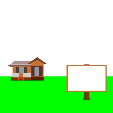 neighbor: House and billboard for your design