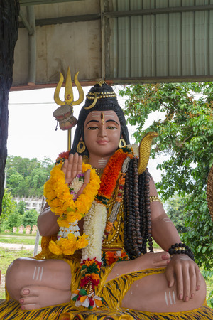 nataraja: Sculpture  of Shiva Nataraja or  Mahesh sitting and show one hand Stock Photo