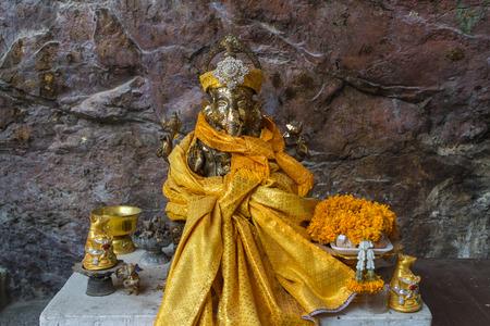 Hindu god statue name is ganesha Stock Photo