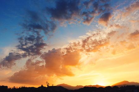 malaga: Sunset in Malaga