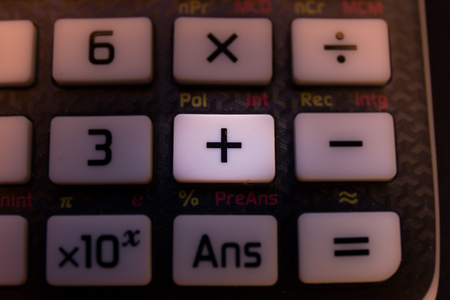 Plus adding key of a scientific calculator