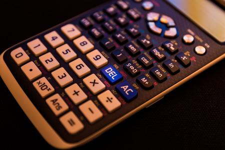 Delete key from a scientific calculator 免版税图像